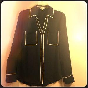 Express classic dark blue shirt blouse - Size M